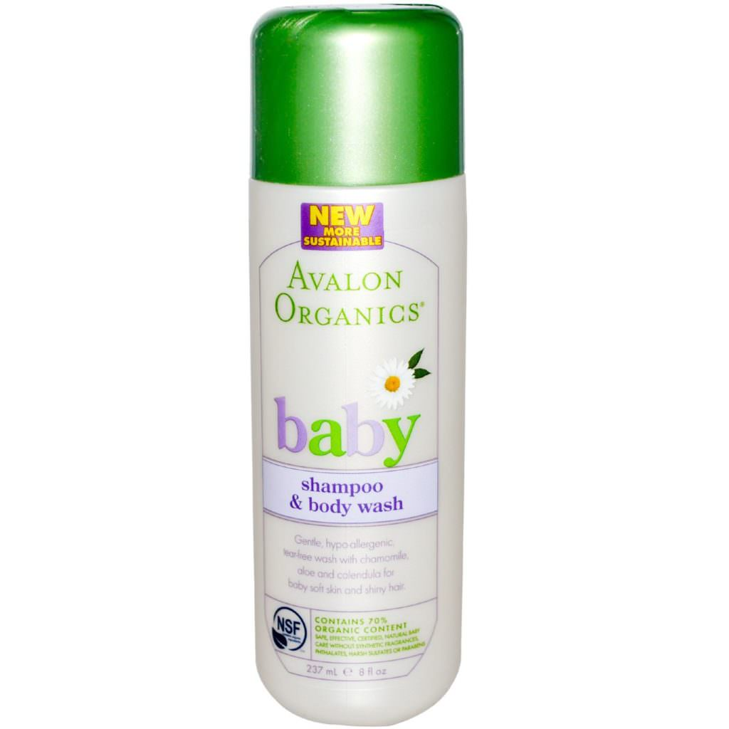 Шампунь Avalon Organics Baby Organic Gentle Tear Free Shampoo and Body Wash